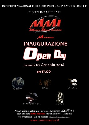 Inaugurazione modern music institute mmi messina mmi for Volantino bernava messina